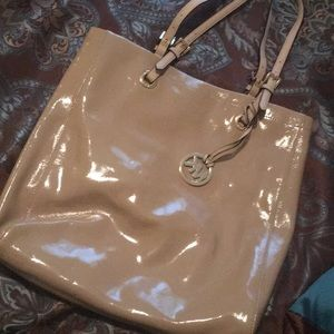 Michael kors cream with tan leather straps